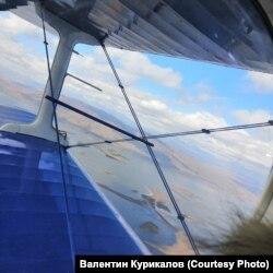 Вид на Уакит из малопассажирского самолета
