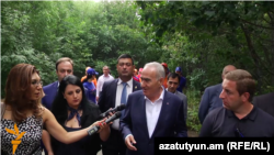 Armenia -- Parliament Speaker Galust Sahakian answers Azatutyun.am's questions, Tsakhadzor, 25Aug2016