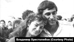 Анатолий Листопадов и его жена Елена. 1990 год, после возвращения пилота из Пакистана