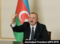 Президент Азербайджану Ільгам Алієв звертається до народу в Баку, 9 листопада 2020 року