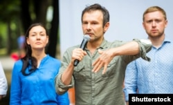 """""""When I come to the Donbas, I say the same things I do when I come to Lviv -- that Ukraine needs to go to Europe, that we need to join NATO,"""" Vakarchuk says."""