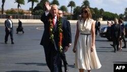 دونالد ترامپ و ملانیا ترامپ روز جمعه وارد هاوایی شدند.
