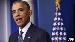 ԱՄՆ-ի նախագահ Բարաք Օբաման ելույթ է ունենում Սպիտակ տանը, 16-ը հուլիսի, 2014թ․