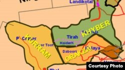 Pakistan -- Map of Federally Administered Tribal Areas (FATA).