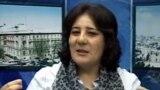 Azerbaijan -- Gozel Bayramli, an opposition activist, Kanal13, YouTube screen shot, Baku, 2013