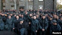 Учасники протесту в центрі Києва, 13 жовтня 2014 року