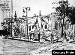 Замальовка з протесту (автор Лідія Мороз)