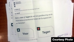 Бюллетень голландского референдума, 6 апреля 2016