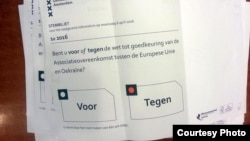 Listić sa holandskog referenduma