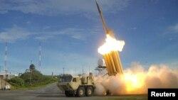 Американский противоракетный комплекс Terminal High Altitude Area Defense (THAAD). Иллюстративное фото.