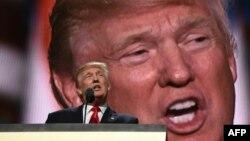 Кандидат в президенты США от Республиканской партии Дональд Трамп. Кливленд, 21 июля 2016 года.