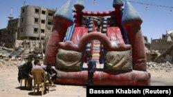 Proslava Bajrama u pobunjeničkom delu Damaska