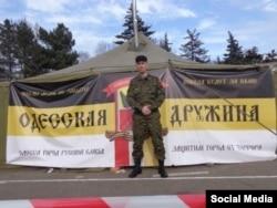 Антон Раєвський на одеському «антимайдані»