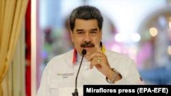 Претседателот на Венецуела Николас Мадуро Каракас, 10 ноември 2020 година
