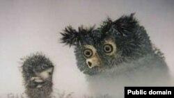 """Кадр из мультфильма Юрия Норштейна """"Ежик в тумане"""" (1975)"""