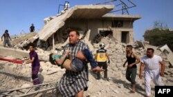 Последствия авиаударов в Идлибе. 30 мая 2019 года