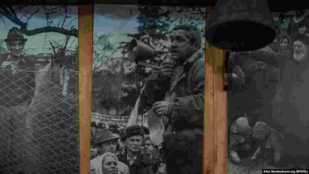 Молодий Ільвер Аметов. Сьогоднішній збирач кілька десятків років тому – активіст і учасник кримськотатарського руху, брав участь у мітингах і голодуванняху Москві, вимагаючи повернути кримським татарам рідні землі, відібрані в їхніх батьків у 1944 році