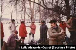 """Andrei Tarkovsky' """"Qurbangətirmə"""" filminin çəkilişləri zamanı"""