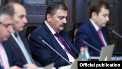 Armenia - Finance Minister Vache Gabrielian at a cabinet meeting in Yerevan, 20Sep2012.