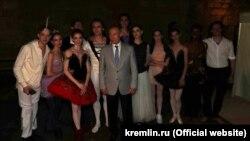 Владимир Путин на фестивале «Опера в Херсонесе». Севастополь, 4 августа 2018 года