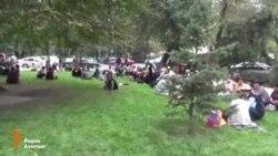 Митинг заемщиков в Бишкеке