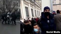 Акция в поддержку Иззата Амона у посольства Таджикистана в Москве, 2 апреля 2021 года