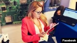 Болгариялық журналист Виктория Маринова (Сурет Маринованың Facebook-тегі парақшасынан алынды).