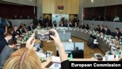 Третият кръг от преговори между Русия и Украйна с посредничеството на Европейската комисия в Брюксел