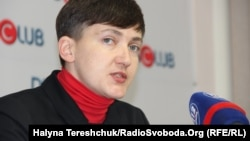 "Nadia Savchenko suggested that if Kyiv focuses on demands for the return of control over Crimea, the Donbas will become ""another Transdniester."""