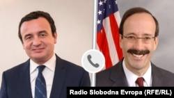 Aljbin Kurti, premijer Kosova na dužnosti i Eliot Engel, predsednik Komiteta za spoljne poslove američkog Predstavničkog doma. Ilustracija sa Kurtijevog Tviter naloga od 24. aprila 2020.