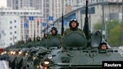 Репетиция военного парада в Москве