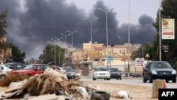Террорлық жарылыс болған жер. Әл-Куббах, Ливия, 20 ақпан 2015 жыл.