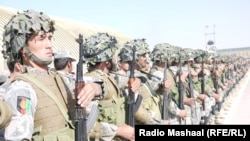 Афганские военнослужащие в провинции Гильменд, 25 августа 2015 года.