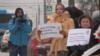 Пикет в защиту роддома в Зюзино