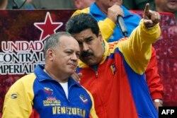 Николас Мадуро и председатель Национальной Ассамблеи Венесуэлы Диосдадо Кабельо. 15 марта