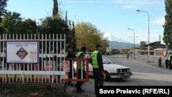 Ulaz u KAP za vrijeme protesta radnika, novembar 2013.