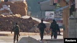 Армиски пункт во близина на Хомс.
