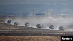 کاروان نیروهای ارتش ترکیه در سوریه (عکس از آرشیو)