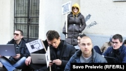 Performans nevladine organizacije MANS 31. januara u Podgorici