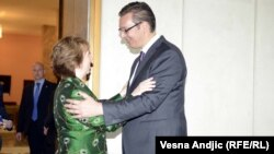 Ketrin Ešton i Aleksandar Vučić, Beograd, 28. april 2014.