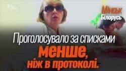 На виборах у Білорусі член комісії здала посвідчення і пішла (відео)