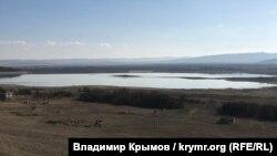 Тайганское водохранилище в марте 2020 года