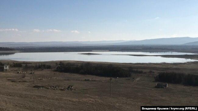 Тайганское водохранилище, март 2020 года