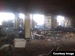 Руйнування всередині аеропорту