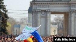 Протесты в Кишиневе принимают массовый характер