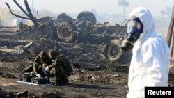 خسارات به جا مانده از انفجار پرقدرت حله