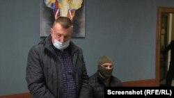 Підозрюваний у держзраді Микола Федорян на суді щодо обрання запобіжного заходу. Херсон, 9 листопада 2020 року