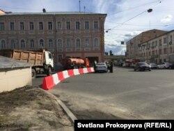 Дороги, перекрытые в Нижнем Новгороде перед футбольным матчем