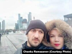 Чанку и Ольга после освобождения из СИЗО