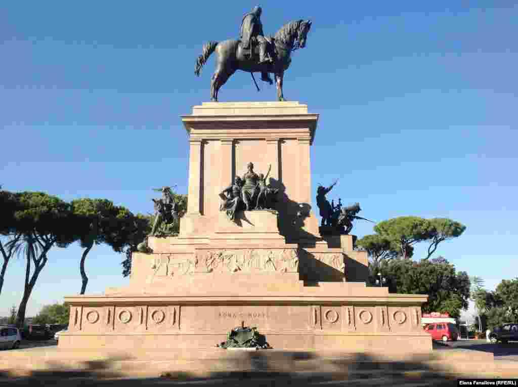 Памятник Джузеппе Гарибальди, революционеру и патриоту